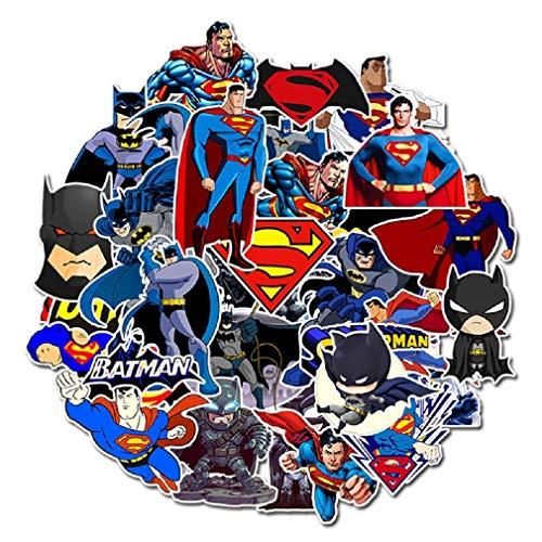 ⭐Top Aufkleber! ⭐ Set von 45 Kleine Superman und Batman Aufkleber - Comics Qualität - Vinyls Stickers Nicht Vulgär - Bomb, Superhelden, Superheld, Marvel - Anpassung, Scrapbooking, Bullet Journal (Robin Fahrrad)