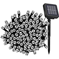 Solar Fairy String Lights Outdoor Waterproof, 33FT 100LEDs Updated Version 6hrs Timer Function Solar Powered String Lights for Christmas Garden Patio Party-(Cool White)