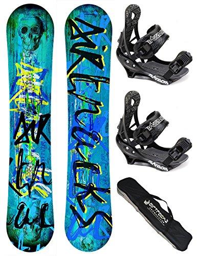 airtracks-snowboard-set-board-skull-wide-155-softbindung-savage-m-sb-bag