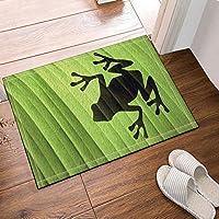 cdhbh der Frosch 's Schatten auf Leaves Bad Teppiche rutschhemmend Boden Eingänge Outdoor Innen vorne Fußmatte, 39,9x 59,9cm Badvorleger Badematte Bad Teppiche