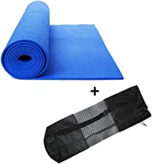 QuickShel Yoga Mat Set, 4mm (Blue)