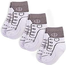 Snocks Mädchen & Jungs Rutschfeste Baby Socken (6x Paar)
