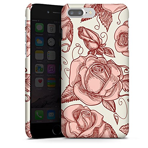 Apple iPhone X Silikon Hülle Case Schutzhülle Rosen Blumen Muster Premium Case glänzend