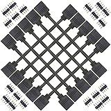 Kabenjee10x 4 polig RGB LED Band 30cm Verlängerungskabel,RGB LED Stripe Verbinder Verlängerung Anschluss Verteiler für 4 pol LED TV Hintergrundbeleuchtung Set,für OSRAM RGB LED-Streifen(Schwar)