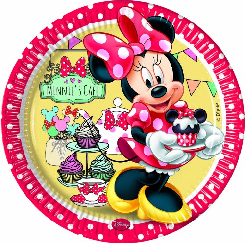 er 23cm (Minnie Mouse-pappteller)