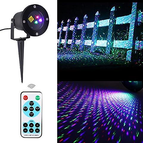 LAMPWIN LED Extérieur et Lumière Lawn Starry, avec Télécommande, Multi-Mode Optionnel, Fonctions de Temporisation, IP65 Imperméable, Pour Patio, Pelouse, Jardins, Vacances - RGB Sensible