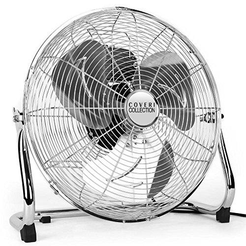 Bakaji Ventilatore Da Terra In Acciaio Con Pala da 50cm Inclinabile Potenza 120W e Motore a 3 Velocità Enrico Coveri