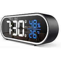 FOZHUATR Réveil Numérique, Horloge Numérique LED avec Température et Humidité, Port de Recharge USB, 2 Alarme, Snooze…