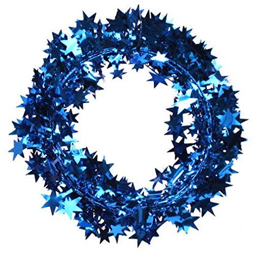 EOZY Weihnachtskranz Stern Weihnachtsdeko weihnachtsgirlande Türkranz Blau