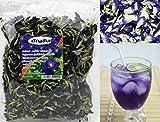 Getrocknete Blaue Klitorie, 100% Bio-Blüten zur Zubereitung von Tee, 100g-Packung, Güteklasse A