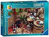 Ravensburger - Verblüffende Puzzle Nr. 10–Wein & Käse, Puzzleset mit 1000Teilen