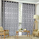 Amazingdeal365 Schal Vorhang Flugfensterdeko Voile Gardinen Schal 2m *1 m Set für Tür Schlafzimmer Wohnzimmer Kinderzimmer Balkon Terasse Spielzimmer (Grau)