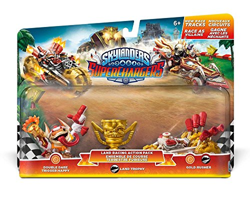 Skylanders SuperChargers Racing Pack (Double Dare Trigger Happy, Gold Rusher, Villain Land Trophy)
