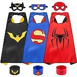 Sinoeem Costumi da Supereroi per Bambini-3 Mantelli e 3 Maschere- Regali di Compleanno - Costumi Carnevale Mantelli e Mascher