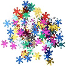 Christmas Confetti for Family Party Supplies, Celebration Decorations, Presents, Family, Snowflakes, Father Christmas, Winter, Reindeer, Festive Season, Christmas Eve, Children (Multi Snowflake)