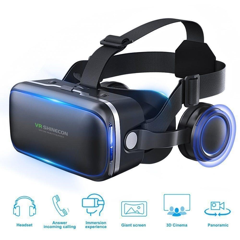 LS2 SL 2018Neuf réalité virtuelle VR Casque Boîte 3D en Verre avec Haut-Parleur Casque + Télécommande pour iPhone 678x Plus Samsung Note 89S7S8S9Edge Android iOS