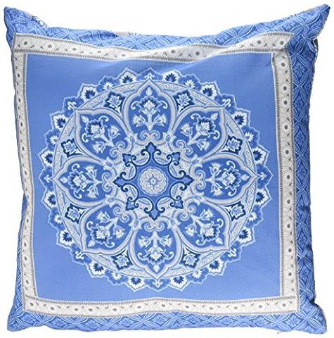 Dreams & Drapes Shantar Kissenbezüge, Blau, Polyester, blau, 43x43 cm Filled Cushion (Ge Quilt Designs)