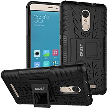 Crust Impact Case For Xiaomi Redmi Note 3, Redmi Note 3 Prime K Proof High Impact Armor Kick Stand Dual Layer Back Cover (Black)