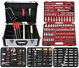 FAMEX Mechaniker Werkzeugkoffer mit Top-Werkzeugbestückung, 174-teilig Steckschlüsselsatz, 716-21