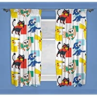 Pokèmon Dash - Cortinas infantiles perfectas para cualquier dormitorio infantil, color amarillo, 137 cm