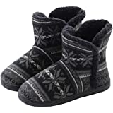 AONEGOLD Zapatillas de Casa para Mujer Bota Cálida Invierno Forro de Felpa Pantuflas Cómodo Antideslizante Botines De Punto p