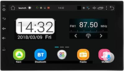 BESTVECH Touch Screen Android Car Stereo with Bluetooth MP5 FM Radio GPS Navigator, 7Inch