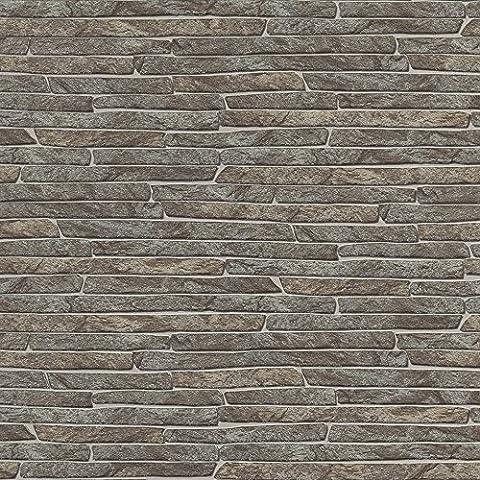 Erismann Authentic Slate Wallpaper Grey