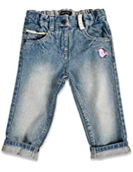 Seven blue jean pour fille en forme de petit oiseau brodé 92419