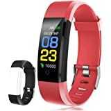 F-FISH Fitness Tracker Waterdicht, Activity Tracker Horloge met hartritmemonitor, slimme band met arteriële monitor, calorieë