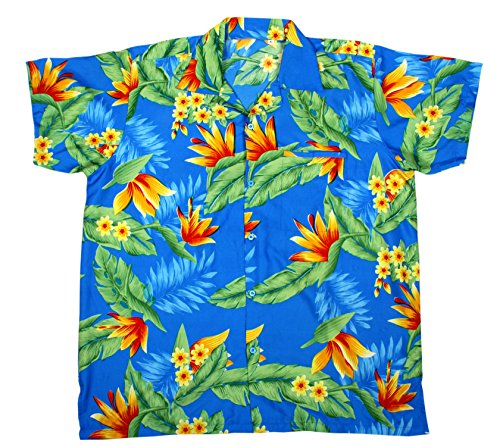 SAITARK-Camisa-casual-para-hombre-multicolor-TURQUOISE-YF-Medium