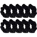 Black Velvet scrunchies ponytail hair ties rubber bands for women, girls and children