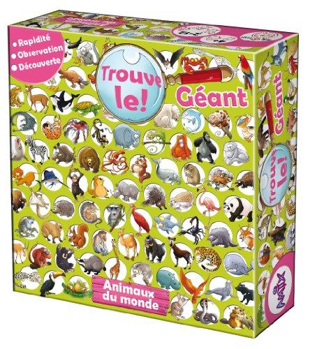 Amix - Frtlg01 - Jeu De Société Educatif - Trouve-le - Géant - Animaux Du Monde