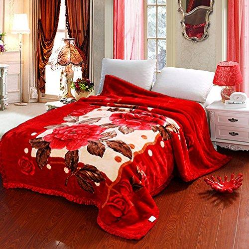 BDUK Raschel Decke Decken dicke Decke Decke Hochzeit Mittagessen Mittagspause Decken Tianci Muzilove 150*200 Reset 5 Catties
