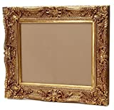 Großer Bilderrahmen Barock 75x85 / 50x60 cm (Antik) Im Retro-Vintage look durch Handarbeit hergestellt für Künstler, Maler. Idealer Gemälde-Rahmen für Ausstellungen STAR-LINE®