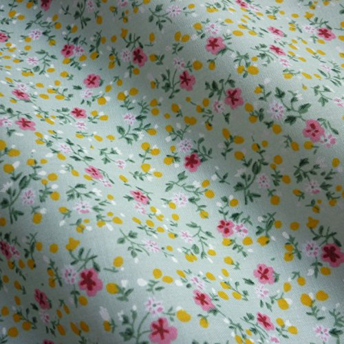 pale-sage-green-polycotton-fabric-with-little-pink-flower-design-per-metre