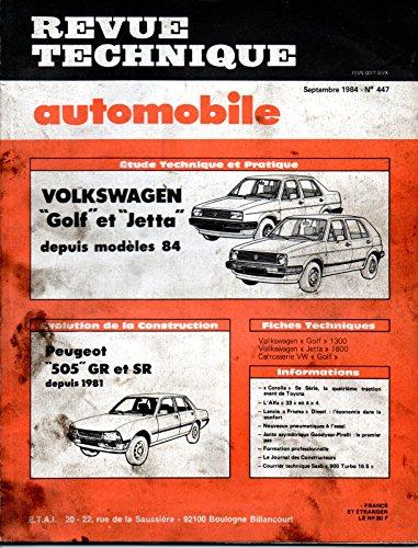 revue-technique-automobile-n-447-volkswagen-golf-et-jetta-2-essence-a-carburateur-1300-1600-1800-c-c