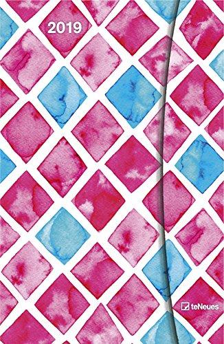 Watercolours 2019 - Wasserfarben Magneto Diary, Buchkalender, Wochenplaner  -  10 x 15 cm Buch-Cover