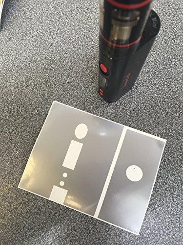 Kangertech subox Mini Mod Vinyl Wrap Für Vaping, VAPE, die Dämpfe silber (Mod Dämpfe)