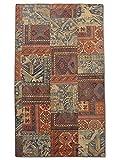 Pak Persian Rugs Handgeknüpfter Flicken Teppich, Mehrfarbig, Wolle, Medium, 143 X 247 cm