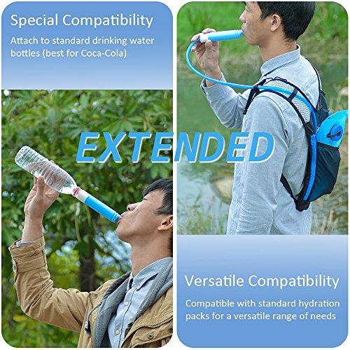 Mini Wasserfilter, ODOLAND Persönlicher Wasserfilter Filter für Outdoor Camping Wandern Trekking - 5