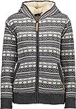 CMP F.LLI Campagnolo Knitted Fix Hood Pullover W Wolljacke fumo m