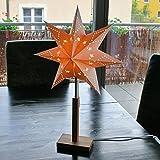 Edler Weihnachtsstern Papierstern Papierleuchte mit Holz-Ständer