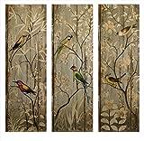 Imax Calima-Vogel-Wanddekoration, Bilder, mehrfarbig, 3-teiliges Set