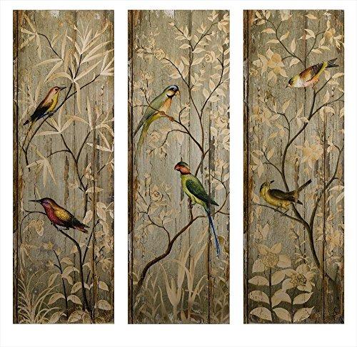 imax-calima-bird-wall-decor-multicolore-set-di-3