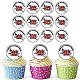 24prédécoupée Cercles–Halloween Trick or Treat comestible pour cupcakes/Halloween Décorations de gâteaux