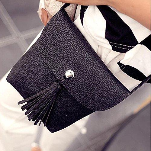 Molie Femmes sac à bandoulière sac à main Épaule Fille sac Cross-corps nouvelles Corée style Noir