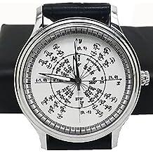 Hermoso reloj de pulsera para los amantes de la matemáticas y ciencia. Trigonometría Radian círculo