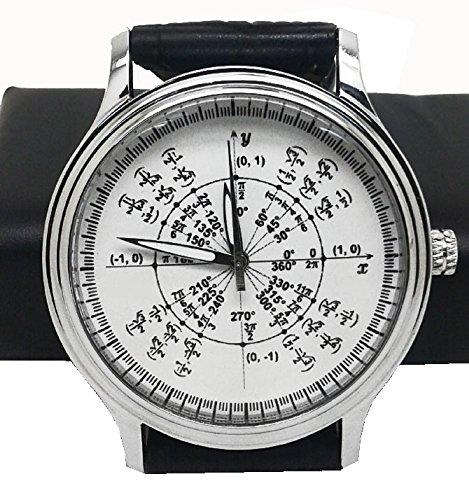 Hermoso reloj de pulsera para los amantes de la matemáticas y ciencia. Trigonometría Radian círculo arte, 40mm