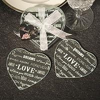 Heart Design Glass Coaster Favors (Set Of 2) - 30 count by Fashioncraft preisvergleich bei billige-tabletten.eu