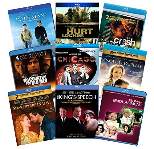 Ultimate Academy Award Best Picture 9-Film Blu-ray Collection: Rain Man / Chicago / English Patient / King's Speech / Shakespeare in Love / Crash / The Hurt Locker / No Country for Old Men / Terms of (Rain Man-dvd)